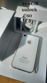 iphone 4S 8GB UNLOCK FREE DELIVERY WITHIN LONDON