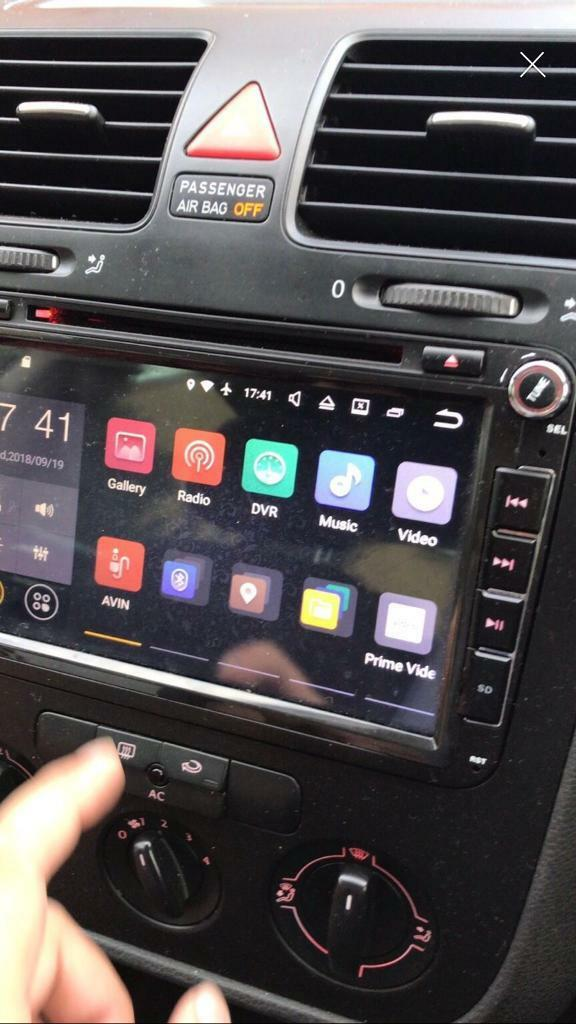 Vw Golf mk6 mk5 android head unit double din nav | in Luton, Bedfordshire |  Gumtree