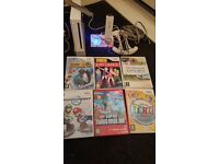 Nintendo wii with 6 games