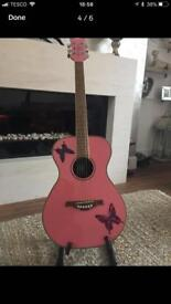 Daisy Rock Acoustic guitar pink