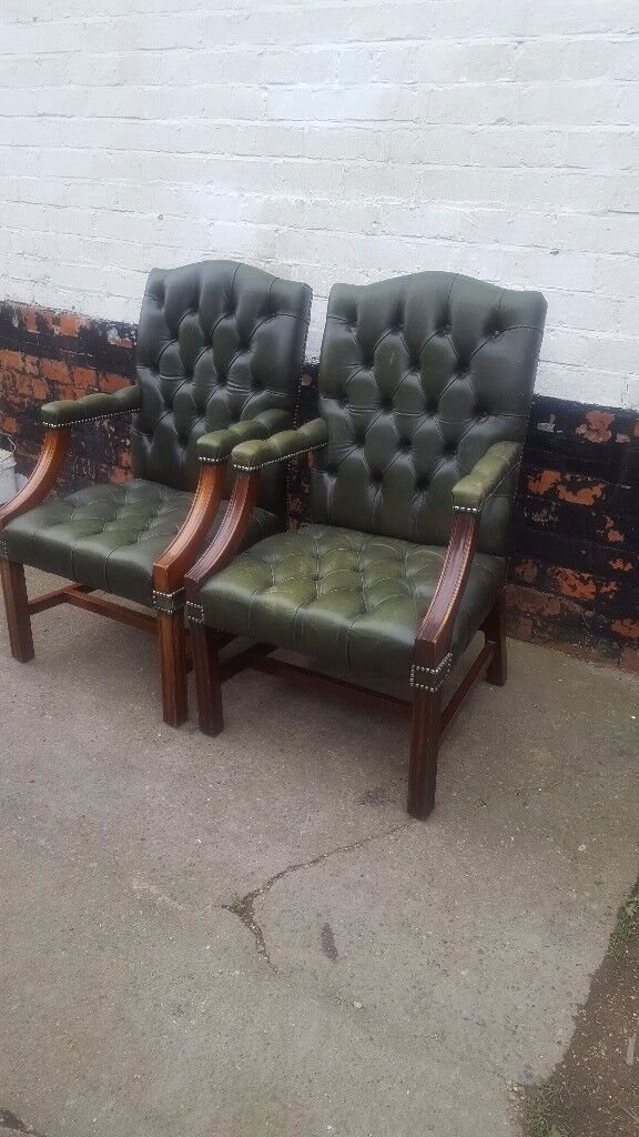 Two CHESTERFIELD CARVERS Chairs