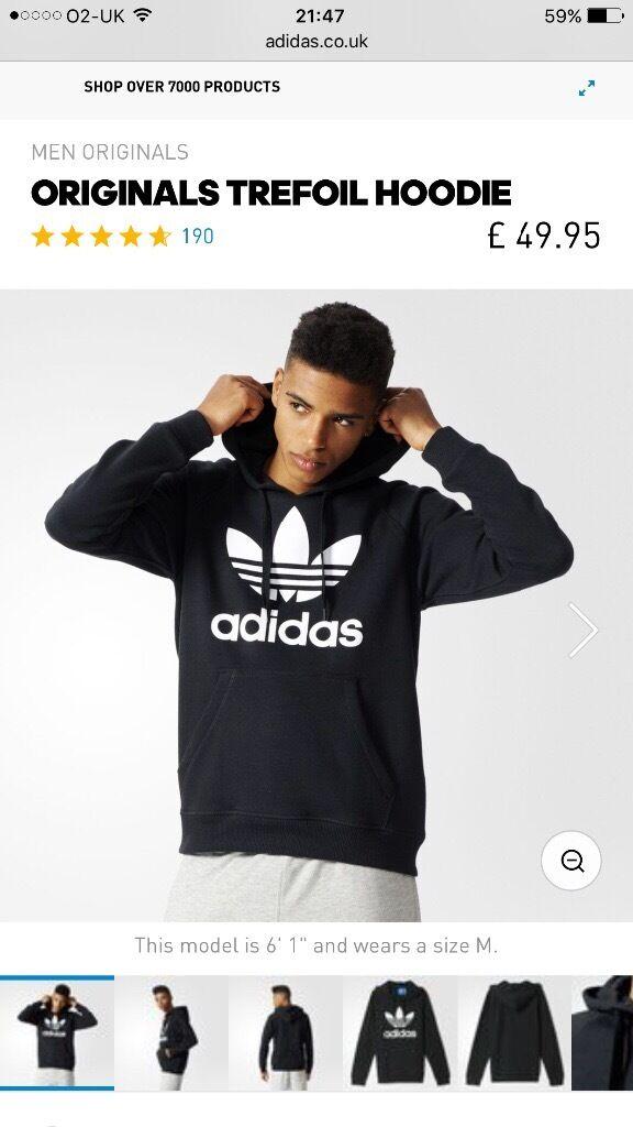 Adidas ORIGINALS TREFOIL HOODIE XL