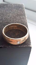 Gents 9ct Gold Diamond Ring