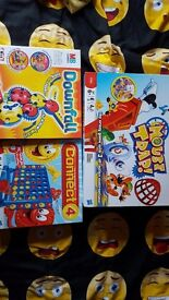Connect 4, Downfall, Mousetrap board games