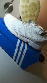 New Adidas ZX Flux PrimeKnit white