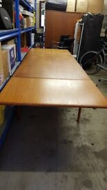 Danish Teak Dining Table Extends to seat 8/10