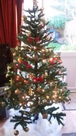 6 ft Artificial Christmas Tree with Stand