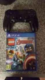 ps4 pad and game
