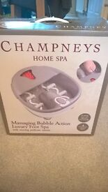 Brand New and still in original box - Champney massaging bubble action luxury foot spa