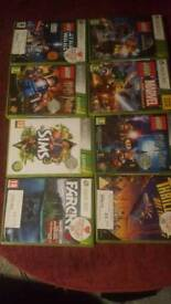 Xbox 360 a variety of games and Kinect