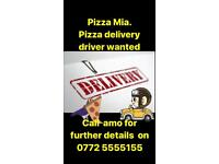 Diver wanted for pizza shop as well as staff