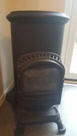 Gas log burner stove