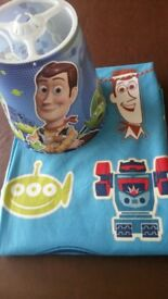 Children's Toy Story curtains with matching ceiling light shade