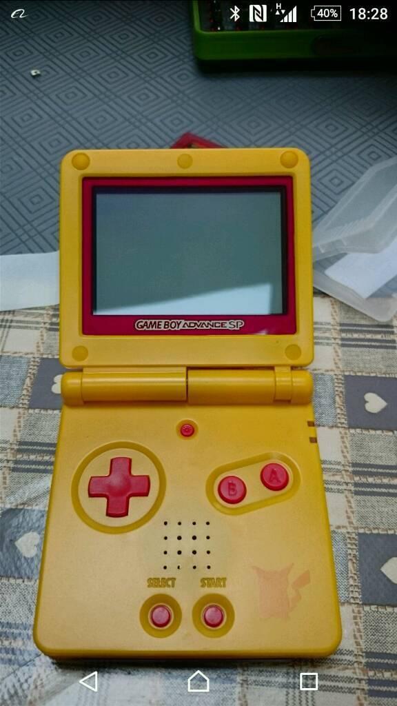 Nintendo Gameboy Advance SP Pikachu Edition Crimson Screen