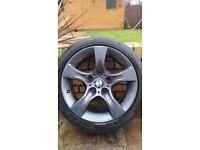 BMW 3 series, set of bmw gunmetal grey alloy wheels x 4 with tyres