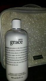 Philosophy Pure Grace shampoo, bath & shower gel, 480 ml new