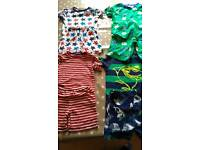4 pairs 5-6 year old boys Summer PJ's from tu and asda