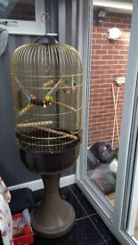 Vintage style bird cage with stand