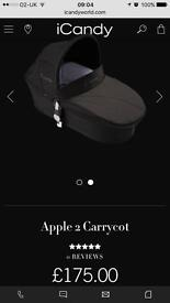 Icandy Apple to pear carrycot new