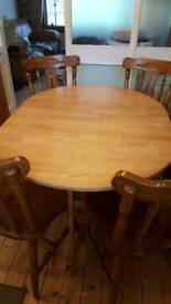 Table & 4 Chairs for sale