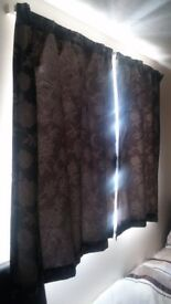 Black curtains perfect to cover the sunlight!