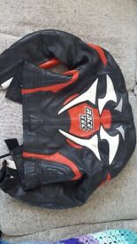 Ladies gericke racetec full leathers motorbike motorcycle motorcross