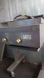 2 Burner Gas Charcoal Grill / On Stand