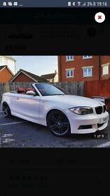 STUNNING BMW 1 SERIES CONVERTIBLE WHITE / RED LEATHER