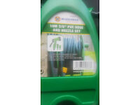 new 10m water hose with nozzle set