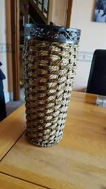 A lovely wicker vase.