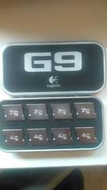 Logitech G9 mouse weights