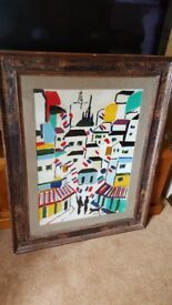 Sante Monachesi original oil painting, stunning frame signed front and back