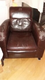 Leather Armchair - Free to Collector asap