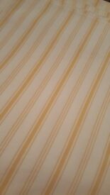 Two pairs of new ikea curtains yellow stripe