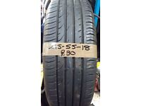 215-55-18 Continental ContiPremiumContact 2 95H Part Worn Tyre