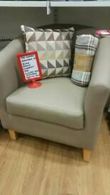 New tub chairs ..leatherette style now only £63.99 fabric now £99.99