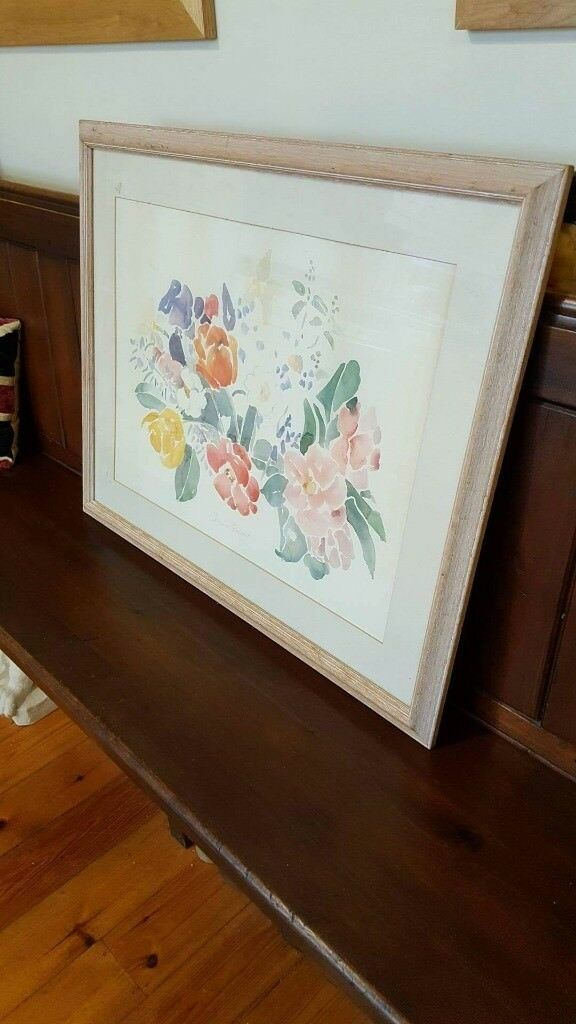 large wood framed watercolour painting | in North Shields, Tyne and ...