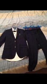 Boys navy holy communion/wedding suit with shoes and belt