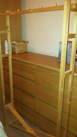 foldable wooden clothes hanging rail