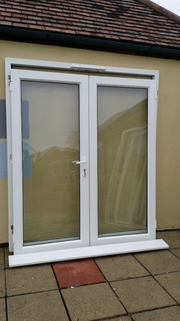 UPVC French / Patio Doors, VGC, White Handles,...