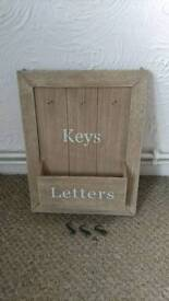 Wall hanging post and key holder
