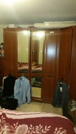 2 double wardrobe/dressing table/6 draw tall boy/over bed draws and 2 single wardrobes