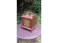 Vintage Edwardian Mahogany Coal Box