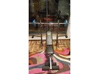 Weider Weights Bench Plus Barbell with 25kg