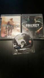 Call of Duty PS3 x3 games