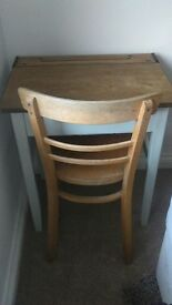 'Not On The Highstreet' Reclaimed Vintage School Desk