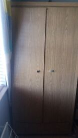 GENTS OAK WARDROBES + CHEST OF DRAWERS