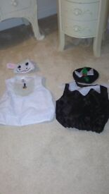 Two beautiful children's outfits one size lamb and Christmas pudding