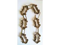 *** Vintage Brass Lighting Chain Hanger Loop Chandelier Light Antique ***