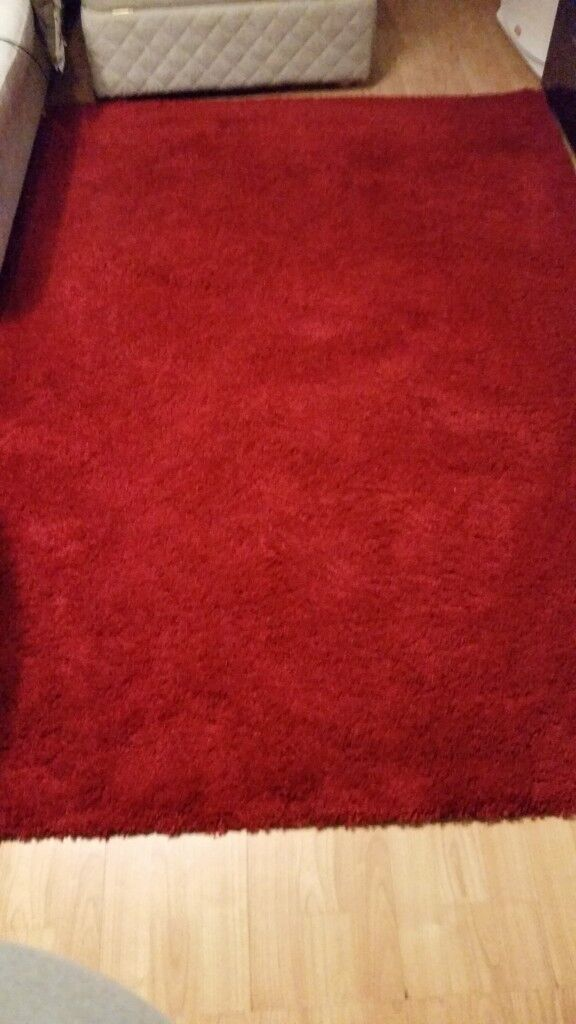 Ikea Adum Rug High Pile Bright Red 133x195 Cm In